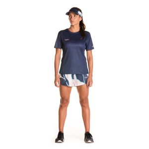 Camisa Manga Corta Profondo Blu Para Mujer