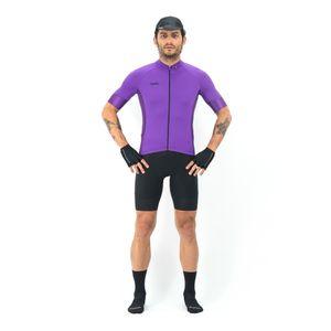 Camisa Manga Corta Básica Violet Para Hombre