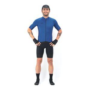 Camisa Manga Corta Básica Blue Para Hombre