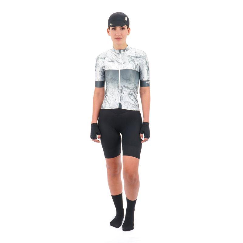 Camisa-manga-corta-Vincitore-Griggio-para-mujer