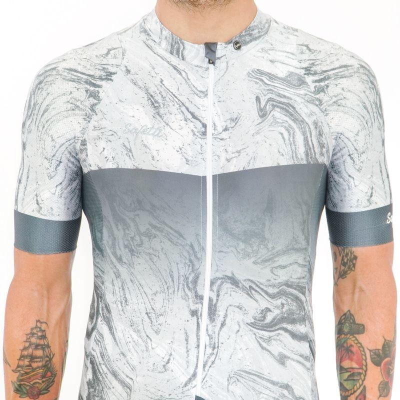Camisa-manga-corta-Vincitore-Griggio-para-hombre