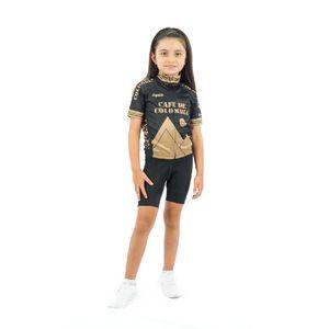 Camisa Colombia Doro Black para Niños