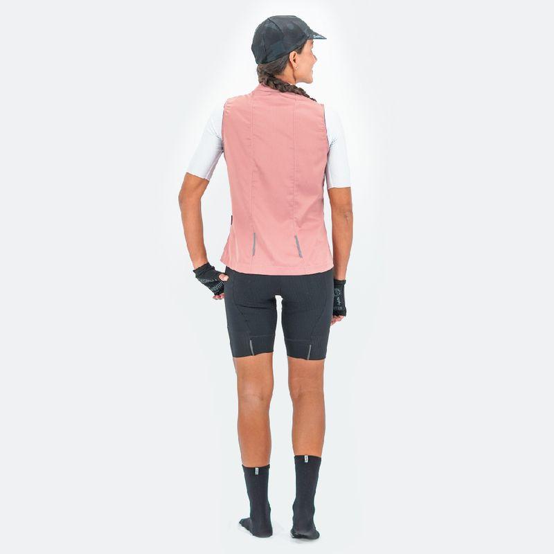 Chaleco-de-Mujer-Ciclismo-Vivace-Rosa