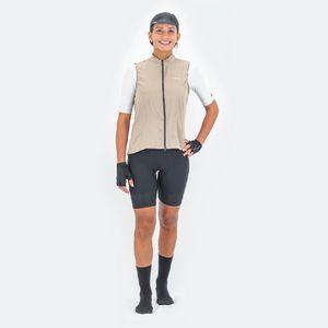 Chaleco de Mujer Ciclismo Vivace Beige