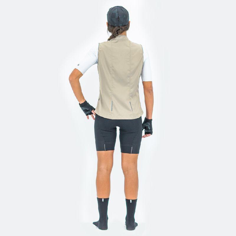 Chaleco-de-Mujer-Ciclismo-Vivace-Beige