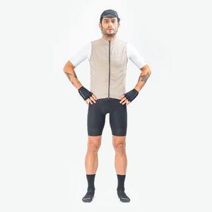 Chaleco de Hombre Ciclismo Vivace Beige
