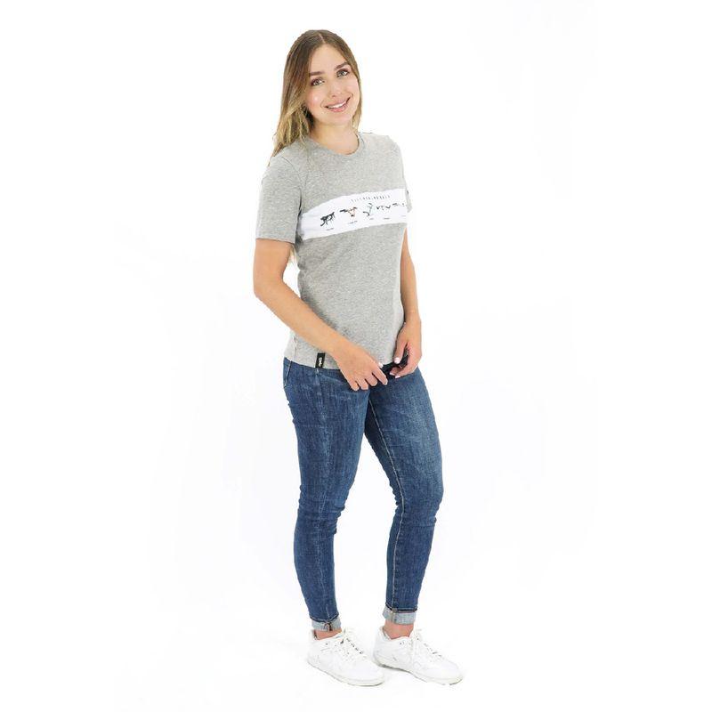 Camisa-manga-corta-Bars-para-Mujer-XS